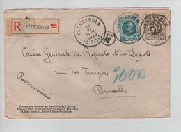 REF2476/ TP 208 Houyoux-420 S/L.recommandée C.Keerbergen 28/11/1929 > BXL - Brieven En Documenten