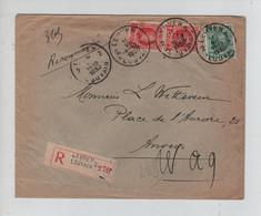 REF2477/ TP 256 (2)-202 Houyoux S/L.Recommandée C.Leuven 11/7/1930. > Anvers C.d'arrivée & Commentaires Du Facteur - Brieven En Documenten
