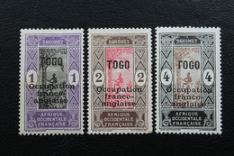 """1916 VARIETE TOGO Y&T NO 84 85 86 1C 2C 4C   SURCHARGES"""" TOGO Occupation Franco-anglaise"""" NEUFS*TB - Ongebruikt"""