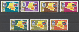 Republic Of Congo 1970 Mi# 360-66** 10th ANNIVERSARY OF INDEPENDENCE - Mint/hinged