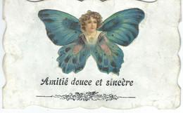 Amitié Douce Et Sincère - Découpis Enfant Papillon - Cachet De La Poste 19089 - Zonder Classificatie