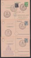 Bernstadt Die Stadt Der Erdachse (Sachen) 3 GA Mit SoSt. 1. Mai 1948, Für Frieden Und Gerechten Frieden, Weltkugel - Zona AAS