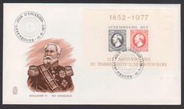 Roi Grand Duc Gulillaume III Block Mit SoSt. 15.9.77 - Blocs & Hojas
