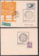 """Postbeförderung über Die Europabrücke """"Mit Postkutsche By Mail-Coach"""" Innsbruck, Karte, Slalom Ski - Marcofilia - EMA ( Maquina De Huellas A Franquear)"""