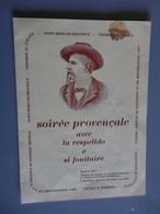 Programme Soirée Provencale A SAINT REMY DE PROVENCE En 1980 - Programas
