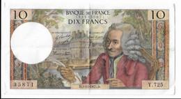 10 Francs Voltaire 2-12-1971 Série Y.725 - 10 F 1963-1973 ''Voltaire''
