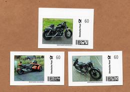 "BRD - ""Briefmarke Individuell"" - 3 Werte -  Motorrad, Motorcycle, Moto - Motos"
