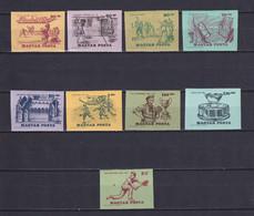 HUNGARY 1965, Mi# 2127-2135 B, Imperf, Sport, MH - Nuevos