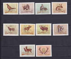 HUNGARY 1964, Mi# 2079-2088 B, Imperf, Animals, Birds, MH - Nuevos
