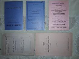 MINES DOMANIALES DE POTASSE D'ALSACE . MDPA . MINEURS . 5 FASCICULES DE REGLEMENTS DIVERS - Non Classés