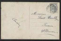 Kaart Gefrankeerd Met Nr 81 En Stempel Froidmont Lez Tournai - 1893-1907 Coat Of Arms