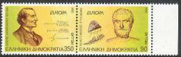 EUROPA CEPT 1994, Thales From Miletus, Karatheodoris Mathematician, Equations MNH (**) Greece Grèce Griechenland Grecia - 1994