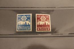 Danziger Luftschutzbund; DLB Danzig 1937, MiNr. 267-8,  MNH - Unclassified