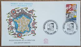 FDC 1990 - YT N°2670 - REVOLUTION / CREATION DES DEPARTEMENTS FRANCAIS - PORT SUR SAONE - 1990-1999