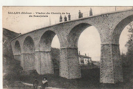 ***  69 *** SALLES  Viaduc Du Chemin De Fer Du Beaujolais TB  Timbrée - Andere Gemeenten
