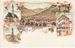 BOLZANO BOZEN - CHIESA PARROCCHIALE - PANORAMA - PIAZZA WALTHER OSTERIA BATZENHAUSL - FORMATO PICCOLO - NON VIAGGIATA - Bolzano (Bozen)