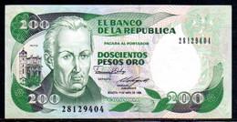 561-Colombie Billet De 200 Pesos Oro 1988-281 Neuf - Colombia