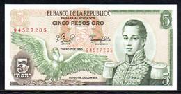 561-Colombie Billet De 5 Pesos Oro 1980-945 Neuf - Kolumbien