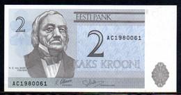561-Estonie Billet De 2 Krooni 1992 AC198 Neuf - Estonia