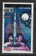 BENIN - N°734 ** (1996) T.P Surchargé , Espace. - Benin – Dahomey (1960-...)