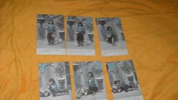 LOT 6 CARTES POSTALES ANCIENNES CIRCULEES DE 1904../ LA MENDIANTE DU PANTHEON..CACHET + TIMBRE - Sammlungen, Lose & Serien