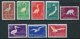 ROMANIA 1957 Fauna Of The Danube Delta MNH / **.  Michel 1686-93 - Nuevos