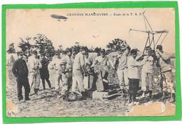 Essais De La  T.S.F RADIO - Grandes Manoeuvres - Militaires - Zeppelin - ETAT - Equipment