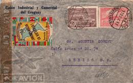 URUGUAY / LETTRE 1943 / UNION INDUSTRIAL Y COMMERCIAL DEL URUGUAY / VIGNETTE / UNIDOS HACIA LA VICTORIA - Uruguay