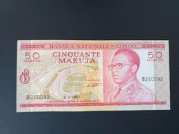 CONGO 50 MAKUTA 1967.RARE.VF+ - República Del Congo (Congo Brazzaville)