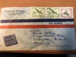 URUGUAY / LETTRE 1957 / MONTEVIDEO / RADIO ARIEL / AIR MAIL - Uruguay