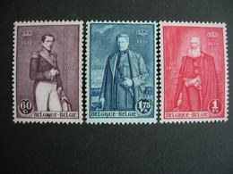 Belgique. 302/04**. (M. 284/86) Cinquantenaire De L'indépendance De La Belgique. - Nuevos