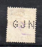 1573 490 - GRAN BRETAGNA 1902 , 5 Pence Unificato N. 113  Usato. PERFIN GJN - Gebraucht