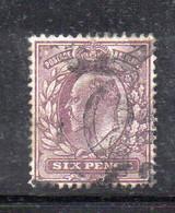 1576 490 - GRAN BRETAGNA 1902 , 6 Pence Unificato N. 114  Usato. - Gebraucht