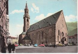 BOLZANO BOZEN - IL DUOMO - AUTO D'EPOCA CARS VOITURES - ACQUERELLATA - VIAGGIATA 1960 - Bolzano (Bozen)