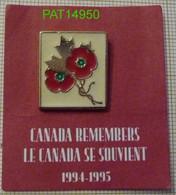 LE CANADA SE SOUVIENT 50 ème ANNIVERSAIRE De La FIN De La SECONDE GUERRE MONDIALE  1994 1995 CANADA REMEMBERS - Army
