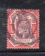 1579 490 - GRAN BRETAGNA 1902 , 10 Pence Unificato N. 116  Usato. - Gebraucht