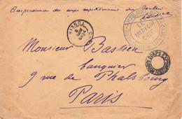 Franchise Corps Expéditionnaire Du Tonkin Cho-Moi 28 Avril 1890 Pr Paris Le Médecin-Chef Infirmerie Ambulance Lai-Chau - Storia Postale