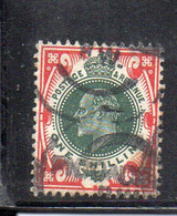 1580 490 - GRAN BRETAGNA 1902 , 1 Sh/- Unificato N. 117  Usato. - Gebraucht