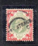 1581 490 - GRAN BRETAGNA 1902 , 1 Sh/- Unificato N. 117  Usato. - Gebraucht
