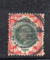 1582 490 - GRAN BRETAGNA 1902 , 1 Sh/- Unificato N. 117  Usato. - Gebraucht