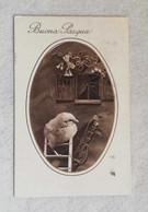 Cartolina Illustrata Augurale Buona Pasqua, Viaggiata Da Brescia Per Giulianova 1932 - Ostern