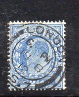1584 490 - GRAN BRETAGNA 1911 , 2 1/2 Penny Unificato N. 126  Usato : Dent 15x14 - Gebraucht