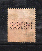 1585 490 - GRAN BRETAGNA 1902 ,  1 Penny Unificato N. 107  Usato :  PERFIN MOOS - Gebraucht