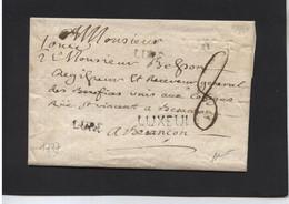 LETTRE De LUXEUIL (plusieurs Frappes) à BESANCON  - 1777 - 1701-1800: Precursori XVIII