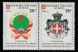 BENIN - P.A N°341/2 ** (1985) Ordre De Malte - Benin – Dahomey (1960-...)
