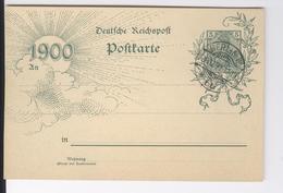 "Postkarte Deutsche Reichspost 1900 Affranchissement 5 Oblitération Cachet ""Berlin 30 12 99"" Entier Postal Postwaardestuk - Unclassified"