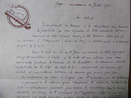 LETTRE AUTOGRAPHE CAPITAINE ALBERT DROUOT CONDUITE DU CANNONIER VANDENBRIELE Michel DU 195 GEGIMENT 1940 - Autogramme & Autographen