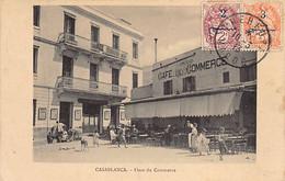 Maroc - CASABLANCA - Place De Commerce - Grand Café Du Commerce - Cie Algérienne - Ed. Inconnu - Casablanca