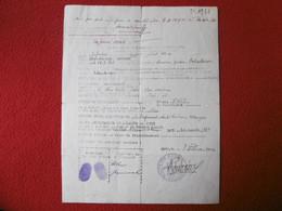 AGDE DEMOBILISATION 1 REGIMENT DE VOLONTAIRES ETRANGERS 1940 STEINMANN TCHECOSLOVAQUE - Documentos Históricos