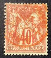 40c 11 N°70 Sage 40c Rouge Des Imprimés Paris 11/9/78 - 1876-1878 Sage (Typ I)
